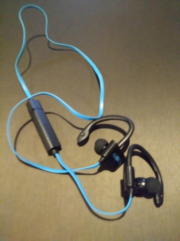 Baby blue Bluetooth headset