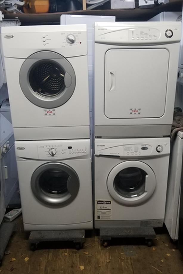 """24"""" Stackable APARTMENT sized washer dryers Victoria City, Victoria"""