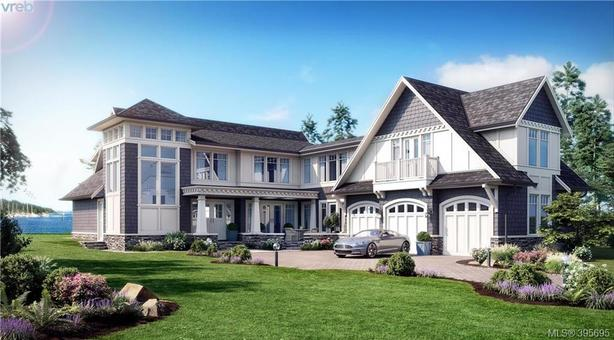 Custom beach front home with ocean views in Victoria, BC