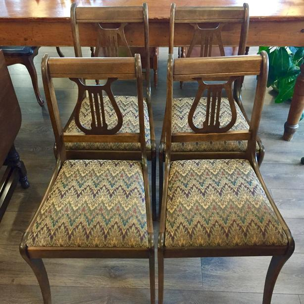 Set of Restored Lyre Back Chairs