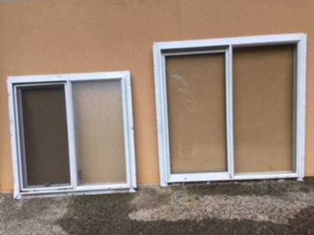 MISC. WHITE ALUMINUM WINDOWS - EACH WINDOW $20
