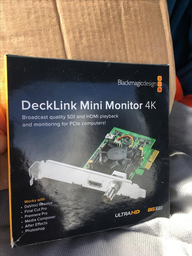  Log In needed $190 · Blackmagic Decklink 4k Mini Monitor