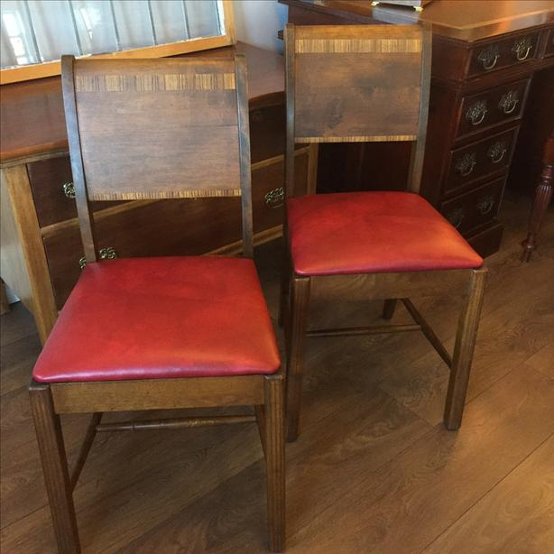 Only 1 left! - Restored Art Deco Chairs