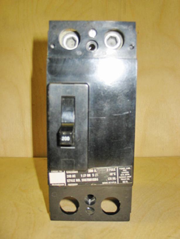 WESTINGHOUSE 200 Amp, 2 Pole, 240 Volt Main Circuit Breaker ~ Rare!