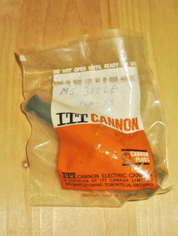 ITT CANNON MS3106E16S-5S Circular Connector Plug (Size 16S, 3-Pin, Cable) ~ New!