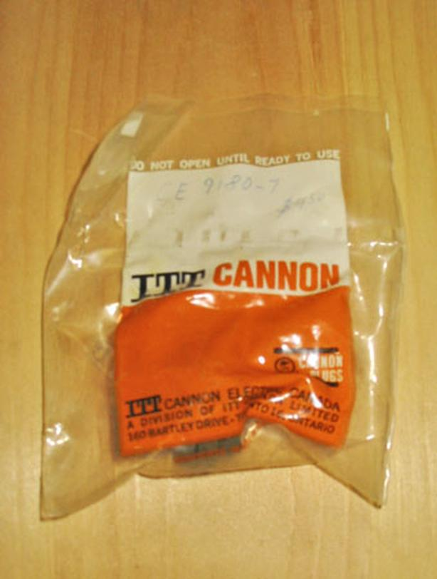 ITT CANNON CE9180-7 Circular Connector Plug (Size 16S, 3 Way Pin, Cable) ~ New!