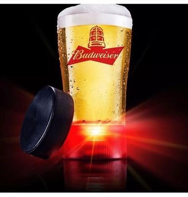 Budweiser Red Light Glass