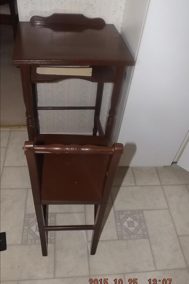 SMALL TELEPHONE TABLE AND CHAIR