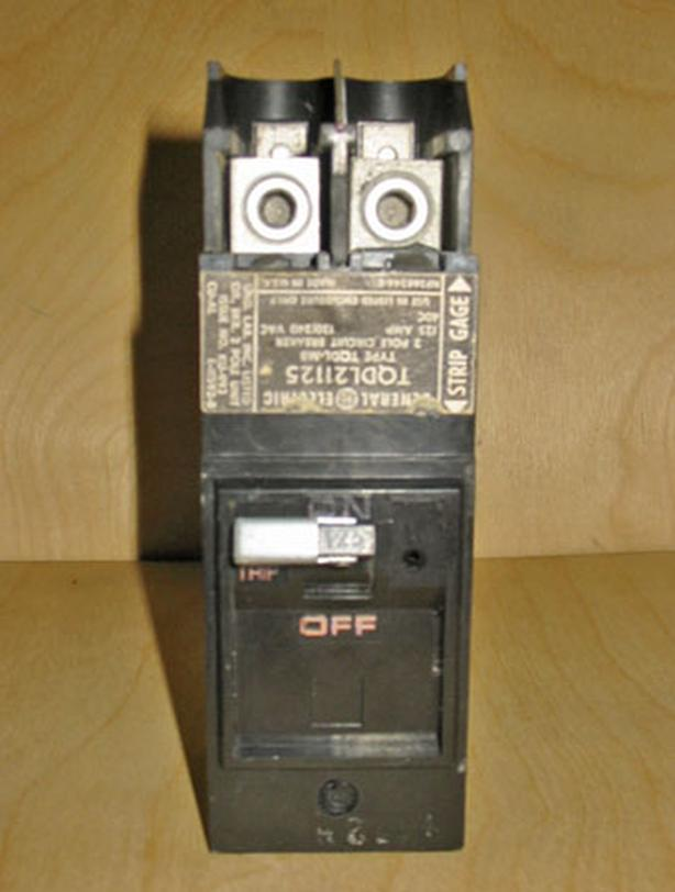 GENERAL ELECTRIC TQDL 125 Amp, 2 Pole, 240 Volt Circuit Breaker ~ Mint/Rare!