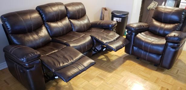 Leon's recliner sofa and chair