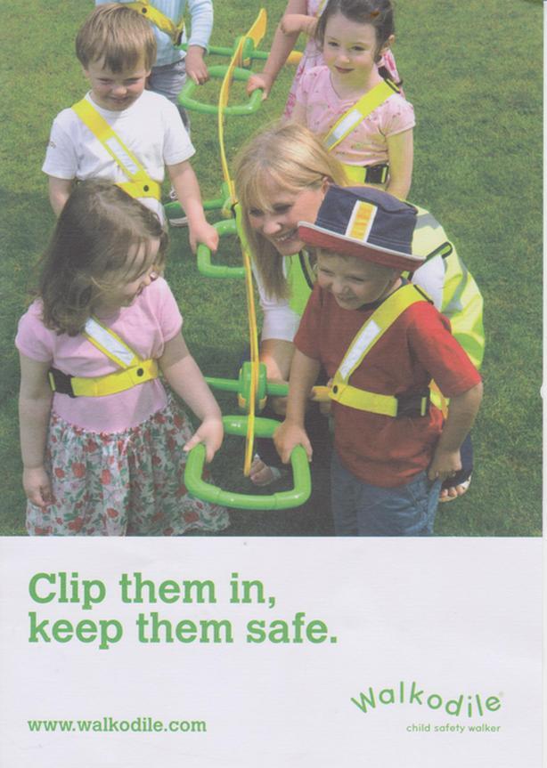 Walkodile - Child safety walker system (4-6 hcildren)