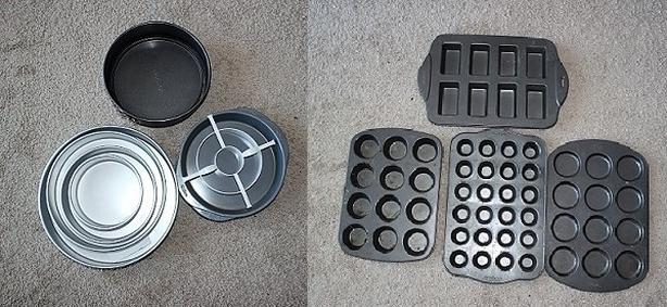 Moving Sale - Wilton cake pan and assorted baking supplies