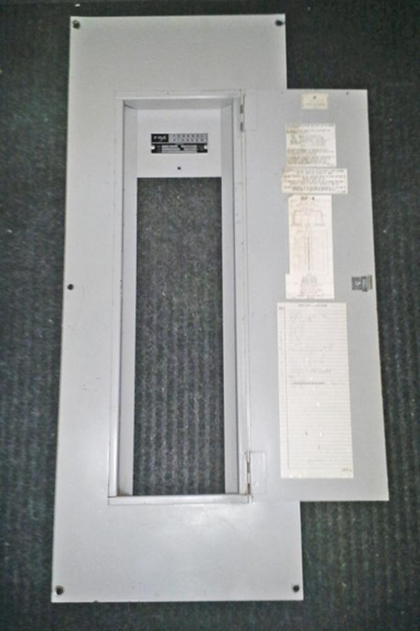 FPE Type NA 200 Amp, 30 Circuit, 3 Phase, 240 Vac Panelboard Cover ~ Rare!
