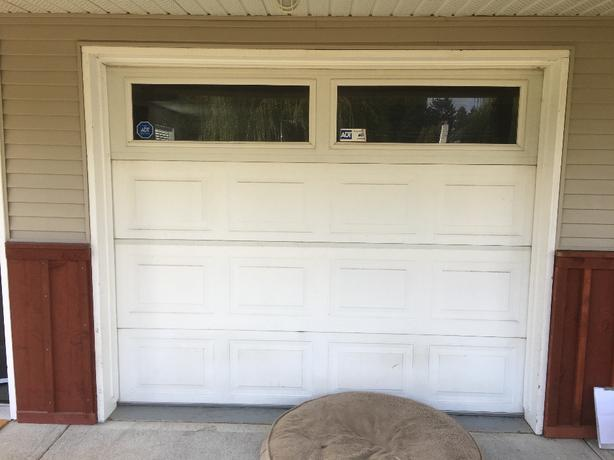 6.3x8 insulated garage door and all hardware