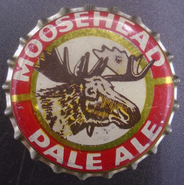 VINTAGE 1950's MOOSEHEAD PALE ALE CORK-LINED CROWN BOTTLE CAP