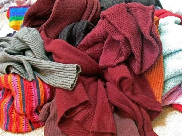 Wanted: old sweaters, sweatshirts and tshirts, any color,size, women mens