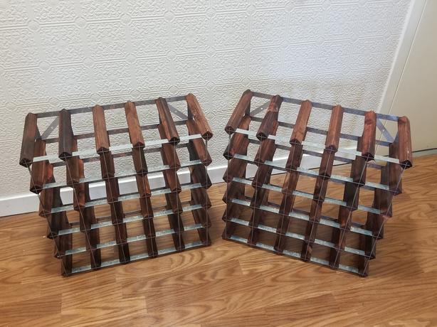Two 30-bottle wine racks