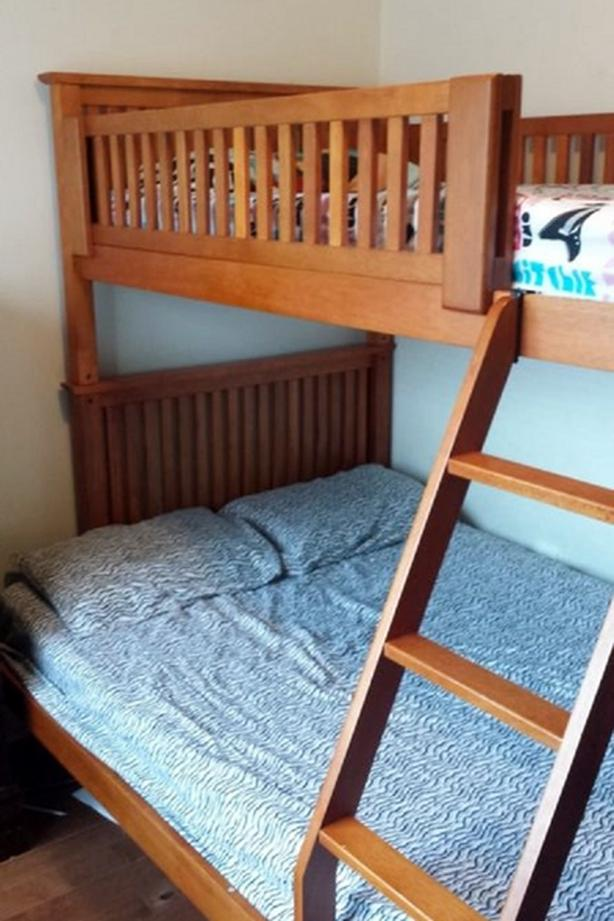 SOLID WOOD BUNK BED SINGLE OVER DOUBLE WITH DRAWERS