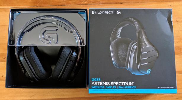 As New Logitech G933 Artemis Spectrum Wireless Headphones