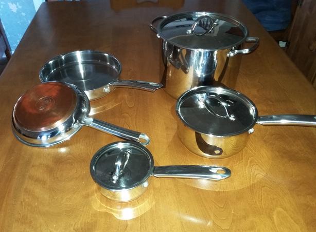 Copper bottom pot set