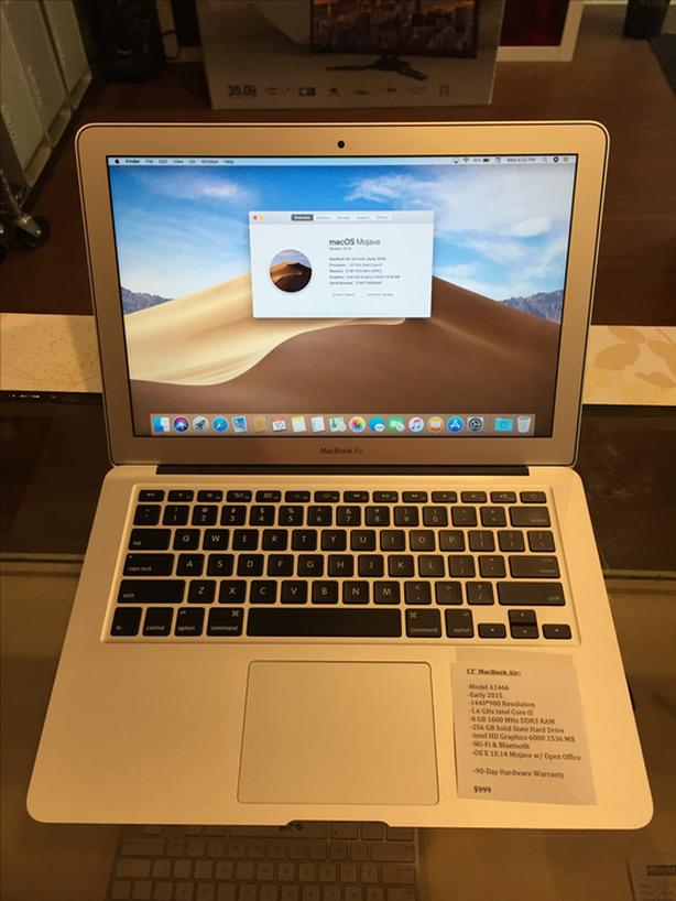 "13"" MacBook Air 1.6 GHz Intel Core i5 8 GB RAM 256 GB SSD w/ Warranty"