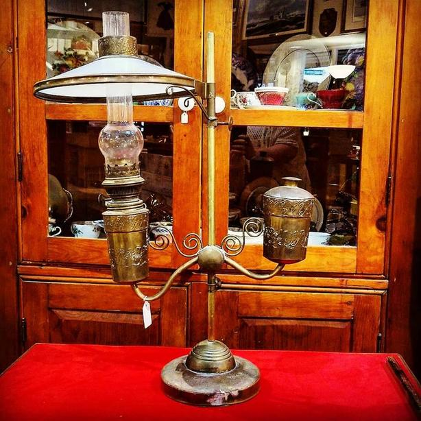 Antique student lamp - working