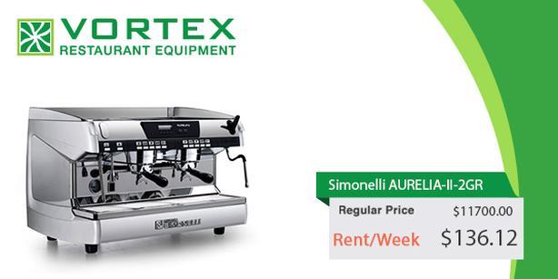 "Simonelli AURELIA-II-2GR 2 Group Espresso Machine ""Used"""
