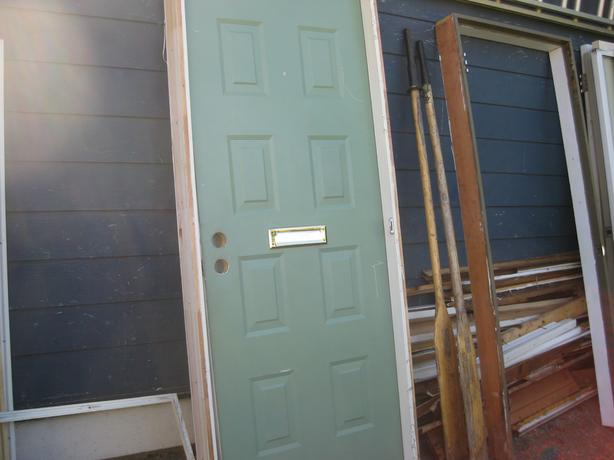 Exterior steel door with frame