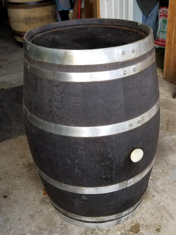 Solid Oak Barrel