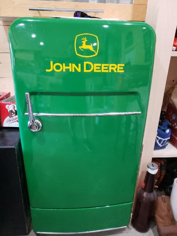 John Deere Vintage Refrigerator Duncan Cowichan
