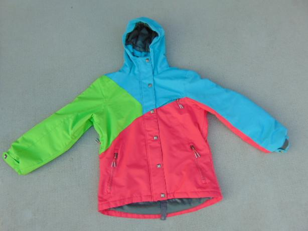 Winter Coat Child Size 10 Firefly Snowboarding With Snow Belt Aqua Blue Fushia