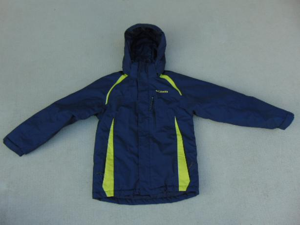 Winter Coat Child Size 10-12 Columbia Snowboarding With Snow Belt Navy Blue