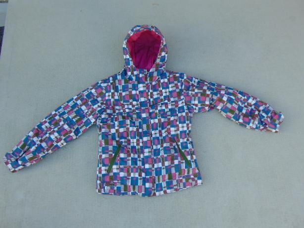 Winter Coat Child Size 10-12 Columbia Snowboarding With Snow Belt Pink Denim