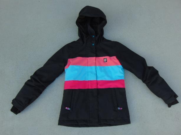 Winter Coat Child Size 12 Orage Snowboarding With Snow Belt Aqua Fushia Black