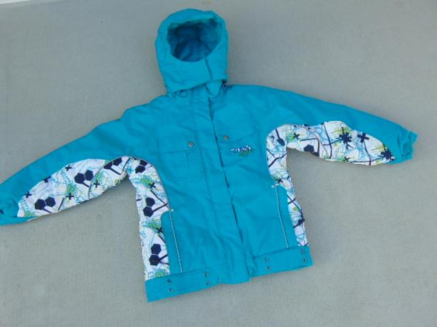 Winter Coat Child Size 12 Youth Crush Snowboarding With Snow Belt Aqua Blue