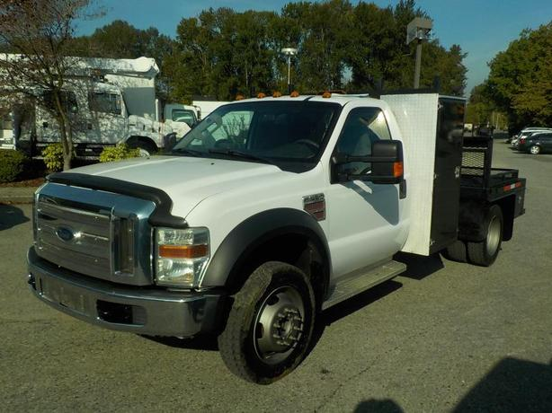 2009 Ford F-550 4WD Diesel 9 Foot Flat Deck 165 inch wheel base