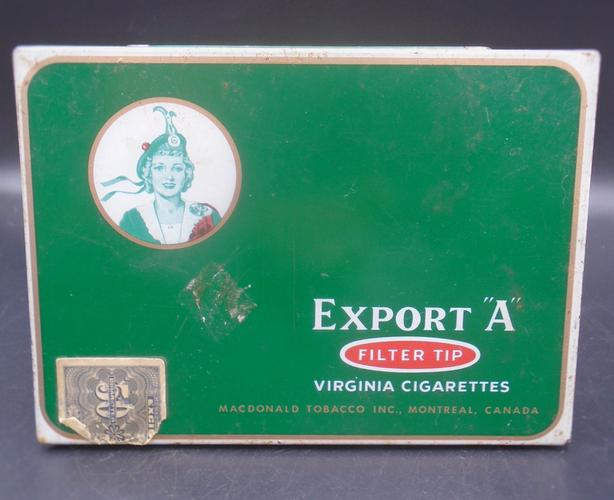 VINTAGE 1940's MACDONALD'S EXPORT A FILTER TIP CIGARETTES TIN