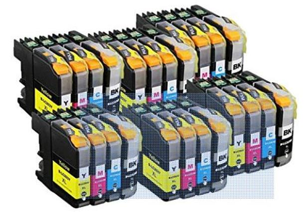 New Brother Injet Printer Cartridges - 24 pack