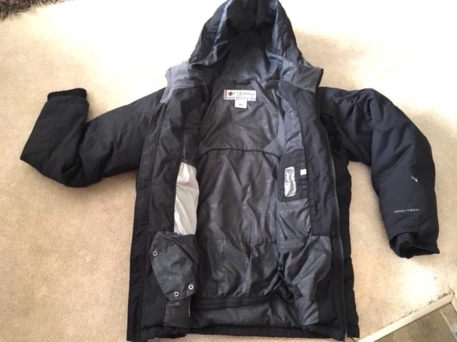Men's Columbia - Black down-filled jacket - Quality and ...
