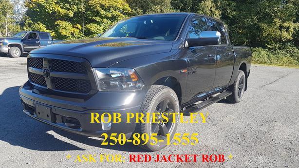 NEW - 2018 RAM 1500 CREW CAB BIGHORN BLACK APPEARANCE 4X4 * RED JACKET ROB *