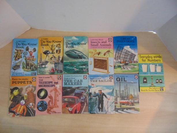 Vintage Children's Books 1960-1970's Lady Bird 11 Hardcovered Books