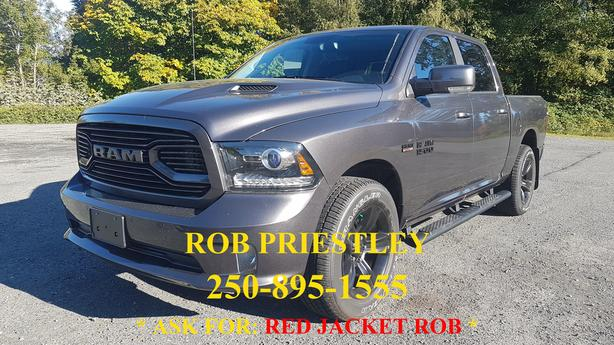 NEW - 2018 RAM 1500 CREW CAB SPORT 4X4 * RED JACKET ROB *