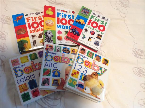 Lot of 6 baby's first words board books