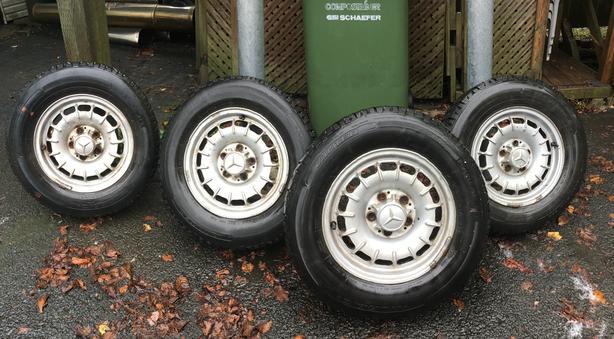 4 Mercedes Benz Bundt/Barock Classic Fan Wheels 6Jx14H2