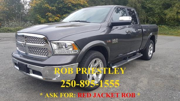 NEW - 2017 RAM 1500 QUAD CAB LARAMIE 4X4 * RED JACKET ROB *