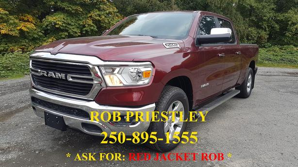 NEW - 2019 RAM 1500 CREW CAB BIGHORN 4X4 * RED JACKET ROB *