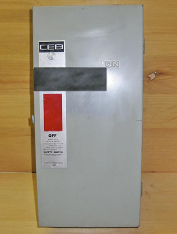 CEB 30 Amp, 3 Phase, 600 Vac Non-Fused Disconnect Switch (CEB A-1036NF) ~ Rare!