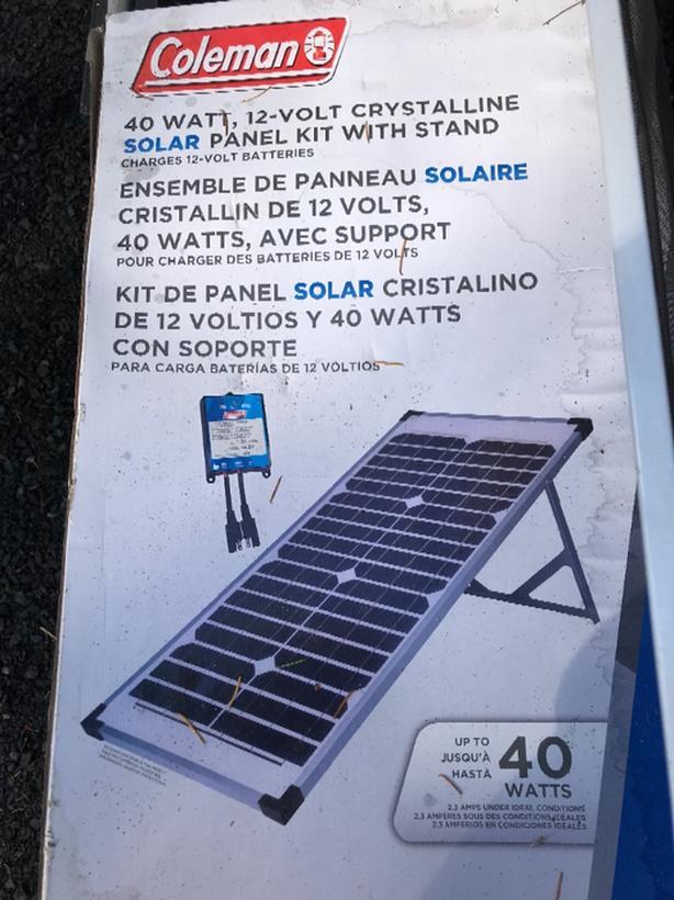 Coleman Folding Portable Solar Panels Saanich Victoria