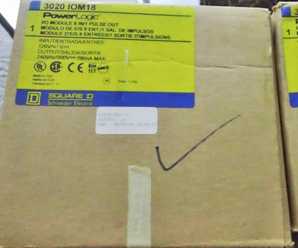 SQUARE D POWERLOGIC 3020 IOM-18 Input/Output Module ~ New!