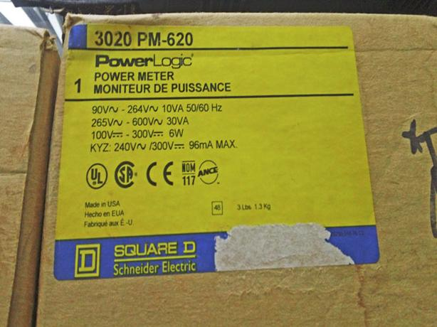 SQUARE D POWERLOGIC Power Meter 3020 PMD-32 PM-620 Control ~ New!
